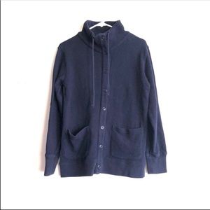 J. Crew funnel neck jacket Dark navy blue Medium